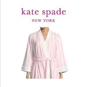 Kate Spade New York Summer Pink/White Robe